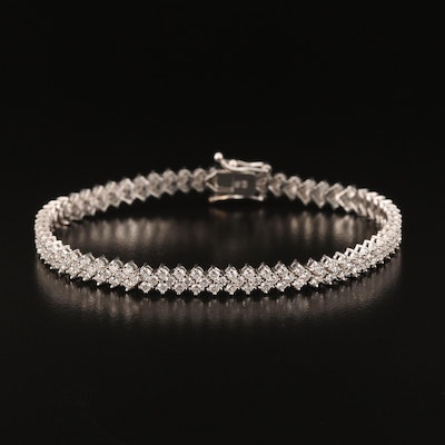 18K 4.00 CTW Diamond Bracelet
