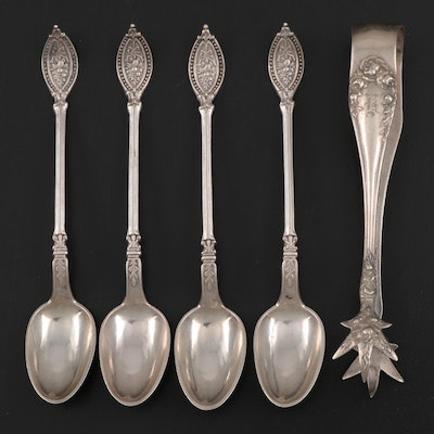 Argyros Aps Demitasse Spoons and Reed & Barton Sugar Sterling Silver Tongs