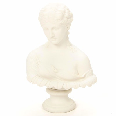 Parian Ware Bust of Clytie, Late 19th Century