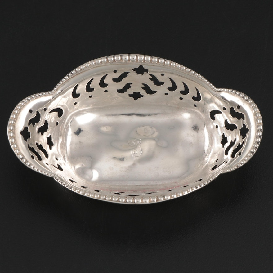 Tiffany & Co. Sterling Silver Pierced Nut Dish, Late 19th/Early 20th Century