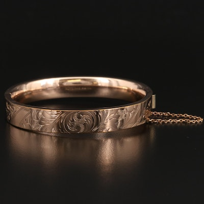 Vintage Bates & B. Scrollwork Bangle
