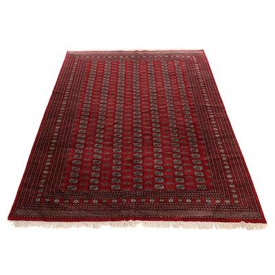 9' x 12'6 Hand-Knotted Pakistani Bokhara Wool Rug
