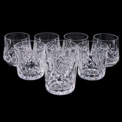 "Waterford Crystal ""Lismore"" Old Fashioned and Roly Poly Glasses"
