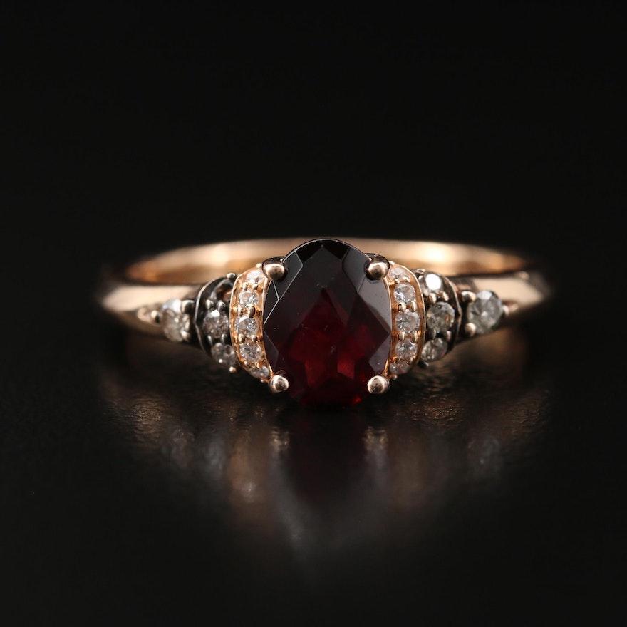 Le Vian 14K Rhodolite Garnet and Diamond Ring
