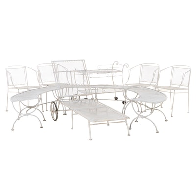 Painted Metal Outdoor Patio Furniture Set