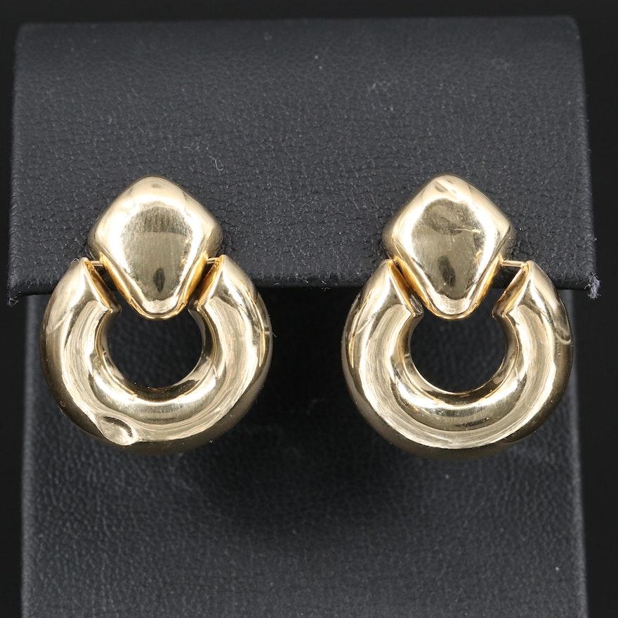 14K Doorknocker Earrings