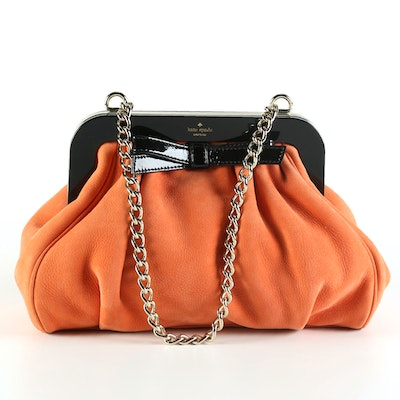 Kate Spade New York Garance Dore Massie Shoulder Bag in Carnelian Leather