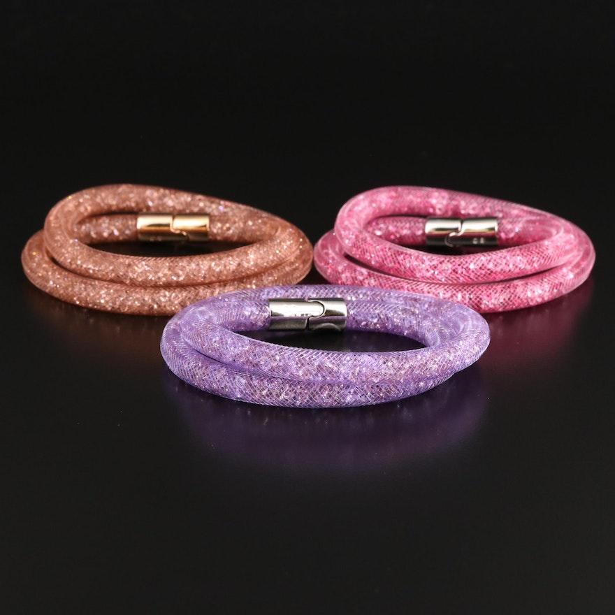 """Swarovski """"Stardust"""" Crystal Double Bracelets"""