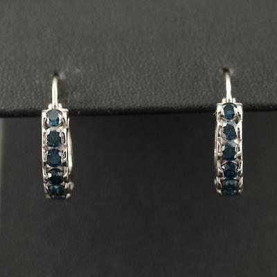 14K 1.19 CTW Diamond Hoop Earrings