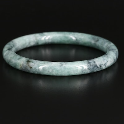 Hololith Jadeite Bangle