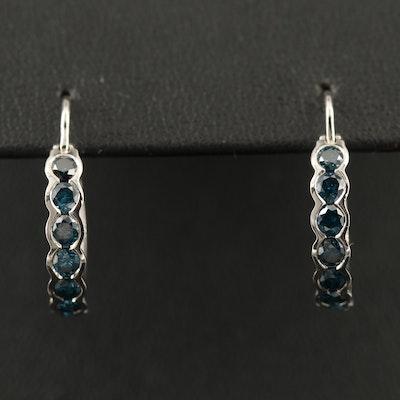 14K 1.26 CTW Diamond Hoop Earrings