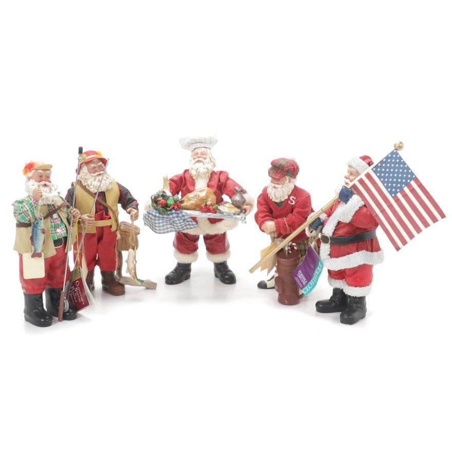Possible Dreams Clothtique and KSA Collectibles Santa Figurines