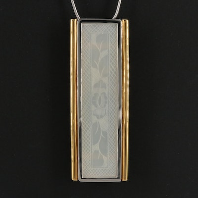 18K, 14K and Platinum Mother of Pearl Converter Pendant Necklace