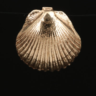 14K Sea Shell Pendant