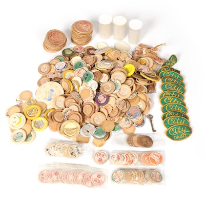 American Dairy Bottle Caps, Mid-20th Century