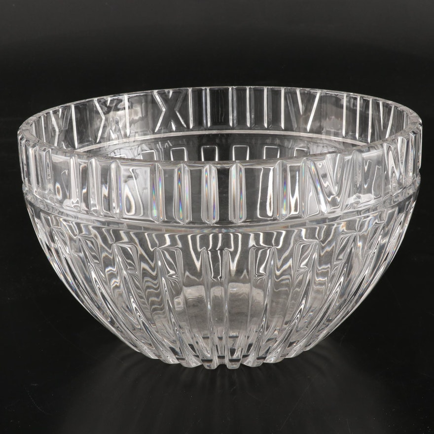 "Tiffany & Co. ""Atlas"" Crystal Bowl"