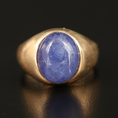 9K Tanzanite Cabochon Ring