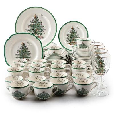 """Spode """"Christmas Tree"""" Ceramic Dinnerware"""
