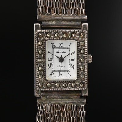 Ronica Marcasite Bezel Quartz Wristwatch