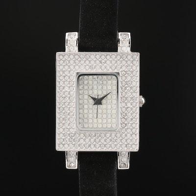 Adrienne Pavé Crystal Quartz Wristwatch
