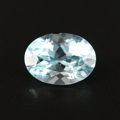 Loose 7.02 CT Oval Faceted Topaz