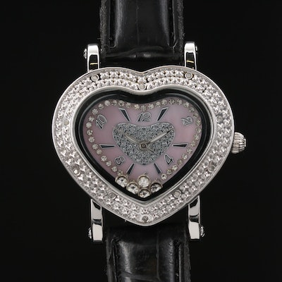 Ice Ice Heart Diamond and Crystal Accented Quartz Wristwatch