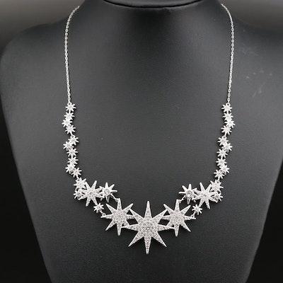 Swarovski Crystal Star Sparkle Stationary Necklace