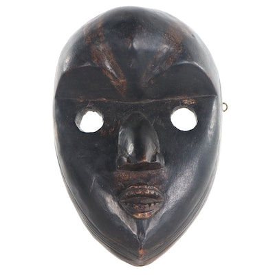 Dan-Bassa Inspired Carved Wood Mask, West Africa