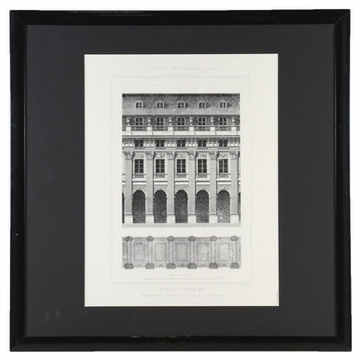 "Graphic Print of Palais Royal Elevation from ""Motifs Historiques,"" 1992"