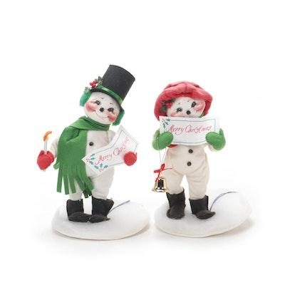 Annalee Mobilitee Caroling Snowmen Dolls, 1996