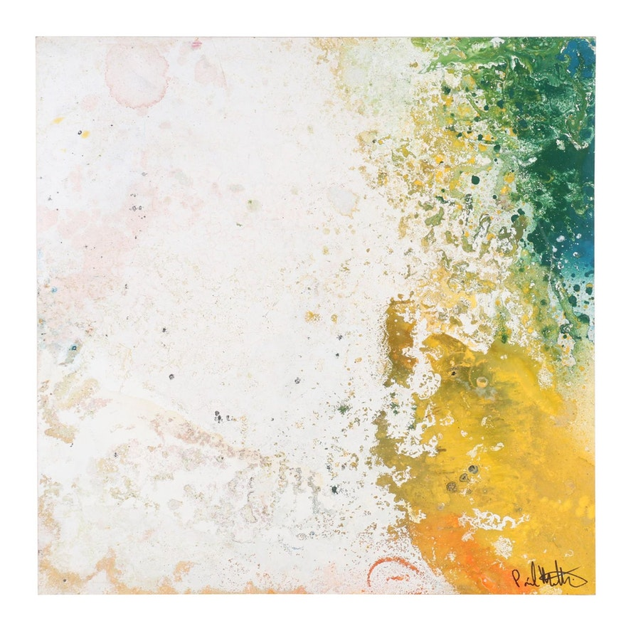 "Paul Mathisen Abstract Mixed Media Painting ""Miami Nights #5"""