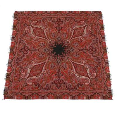 Kashmir Style Paisley Wool Shawl, Mid-19th Century