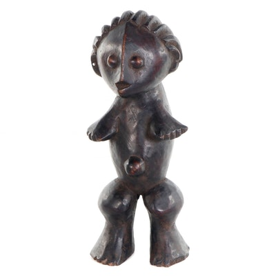 Zande Style Carved Wood Figure, Central Africa