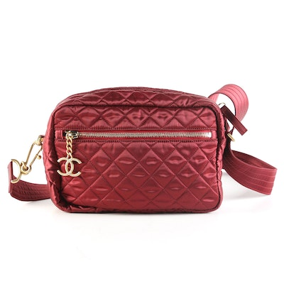 Chanel Paris-Hamburg Camera Bag in Quilted Satin and Embellished Hardware