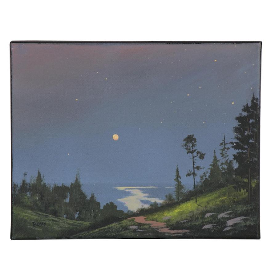 "Douglas ""Bumo"" Johnpeer Oil Painting ""Valley Stars,"" 2020"
