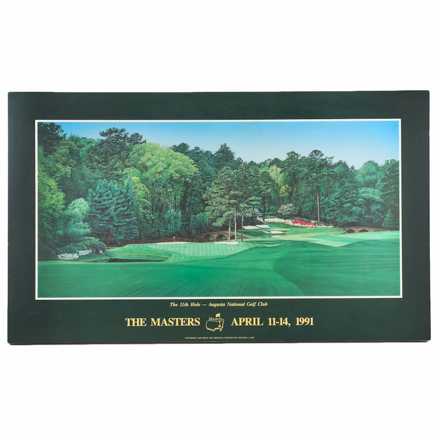 The Master's 1991 Poster Featuring the Augusta National Golf Club