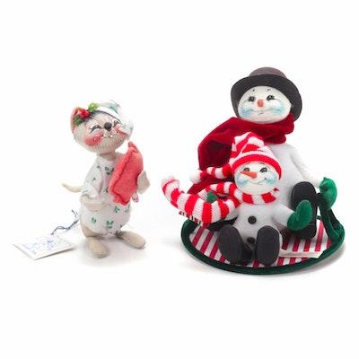 Annalee Mobilitee Sledding Snowmen and Mouse