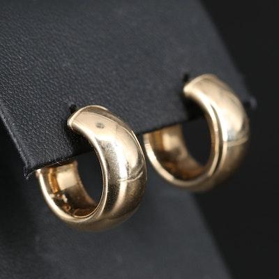 14K Puff Hoop Earrings