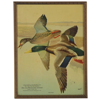 "Offset Lithograph after Francis Lee Jaques ""Mallards,"" Mid to Late 20th Century"