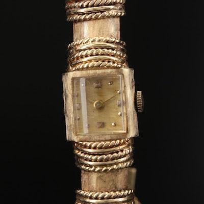 14K Swiss Stem Wind Wristwatch
