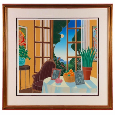 "Thomas McKnight Serigraph ""Open Window"""
