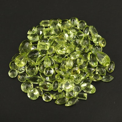 Loose 34.24 CTW Faceted Peridots