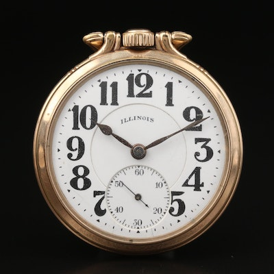 1919 Illinois Railroad Grade Gold Filled Pocket Watch