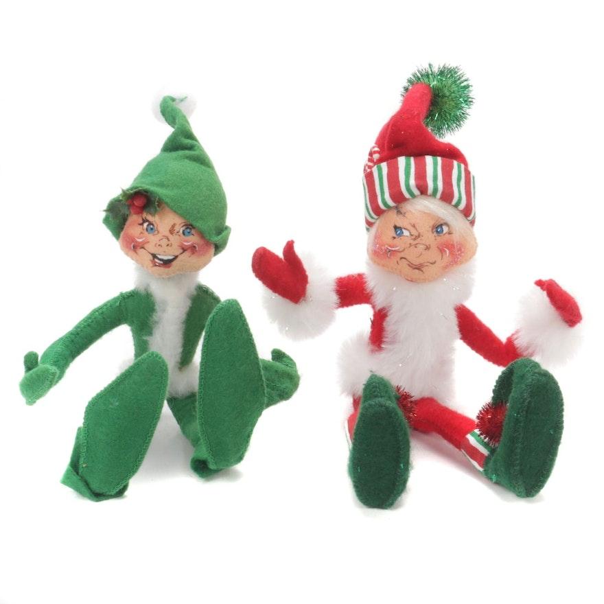 Annalee Mobilitee Holiday Elf Dolls, 2005