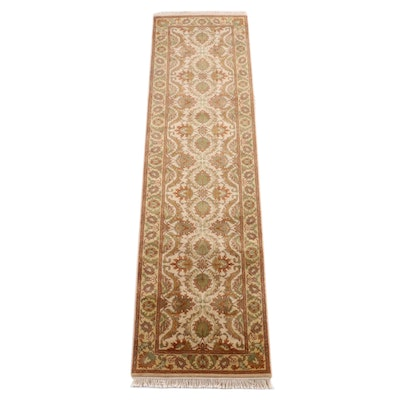 2'7 x 10'7 Hand-Knotted Indian Mahal Carpet Runner