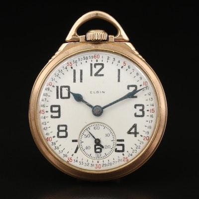 1928 Elgin B.W. Raymond Gold Filled Montgomery Dial Pocket Watch