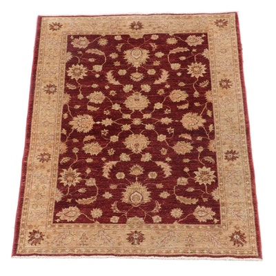 4'0 x 5'6 Hand-Knotted Indian Mahal Wool Rug