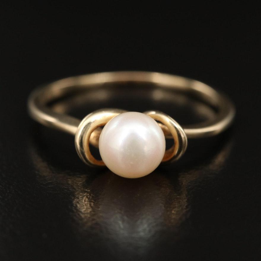 Vintage 14K Pearl Ring