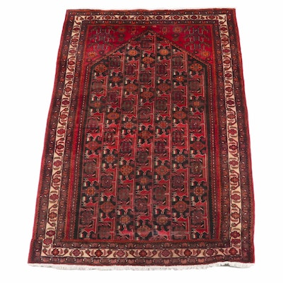 5'3 x 8'8 Hand-Knotted Persian Qashqai Wool Rug