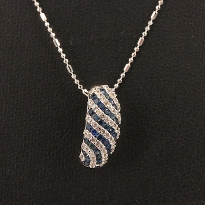 Sterling Silver Sapphire Pendant Necklace